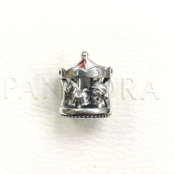 Pandora Jewelry Pandora Christmas Carousel Charm Red 798435c Poshmark
